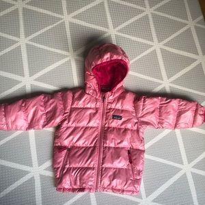 Patagonia Jackets & Coats - Patagonia Girls Hi-Loft Down Sweater Hooded Jacket